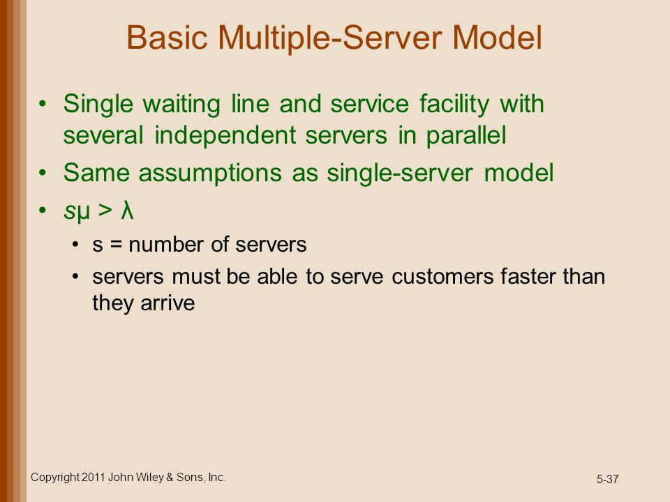 Basic Multiple-Server Model