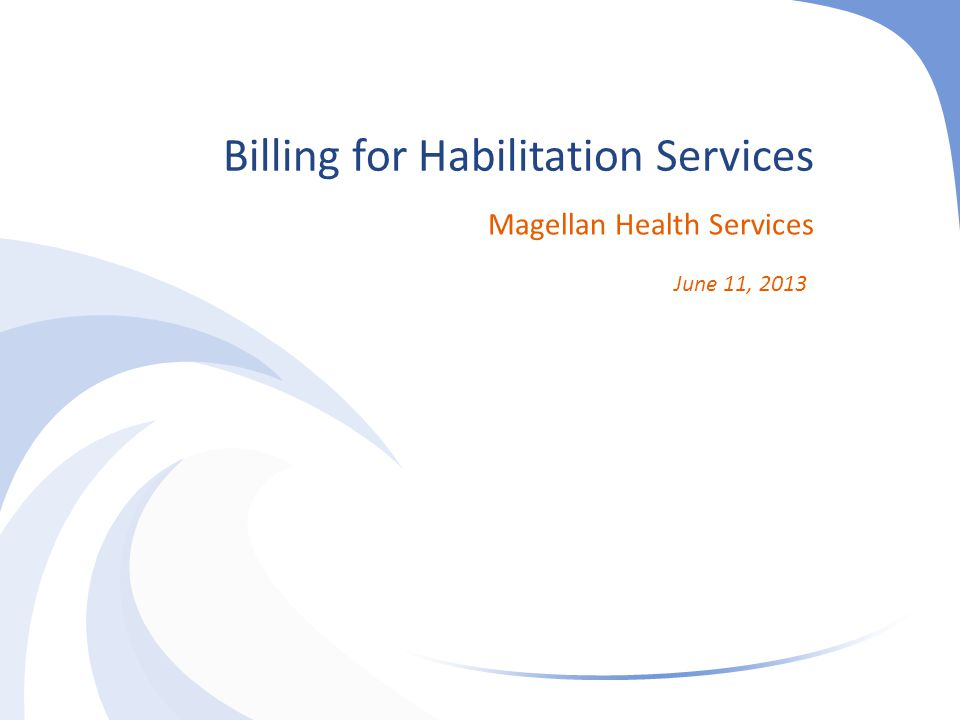 Billing for Habilitation Services
