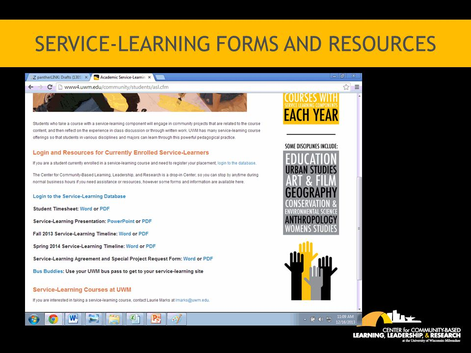 SERVICE-LEARNING FORMS AND RESOURCES