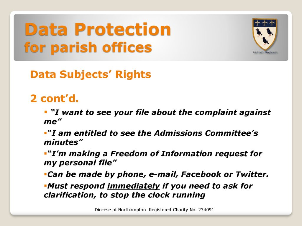 Data Protection for parish offices - ppt download