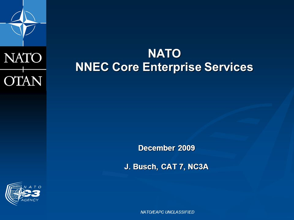 NATO NNEC Core Enterprise Services