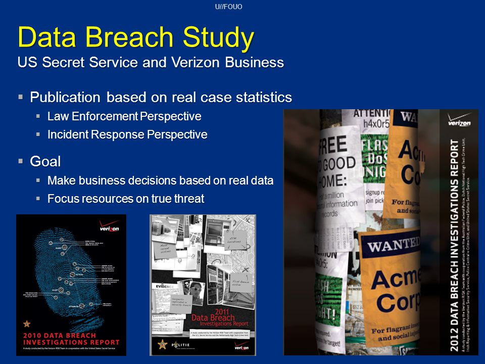 Data Breach Study US Secret Service and Verizon Business