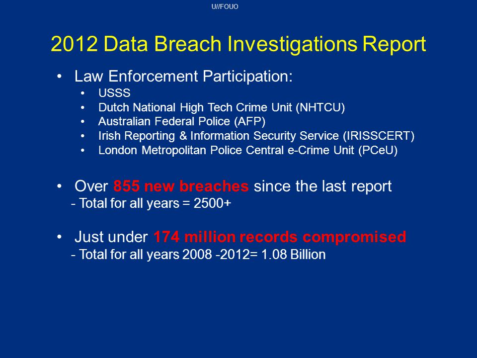 2012 Data Breach Investigations Report