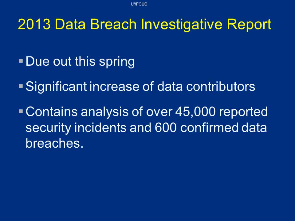 2013 Data Breach Investigative Report