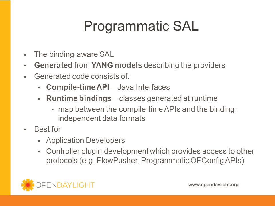 Programmatic SAL The binding-aware SAL