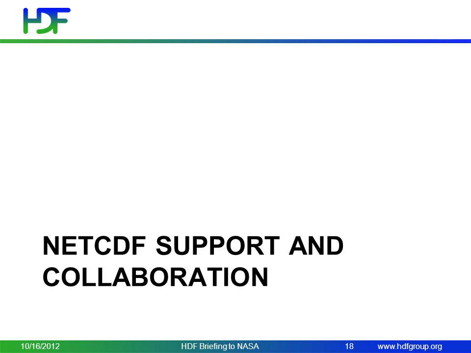 netCDF support and collaboration