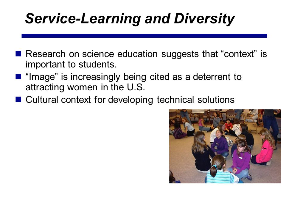 Service-Learning and Diversity