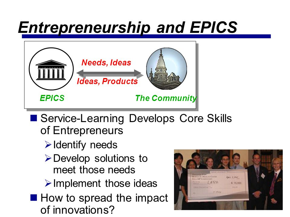 Entrepreneurship and EPICS