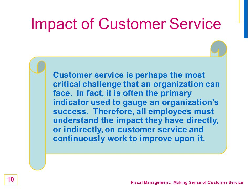 Impact of Customer Service