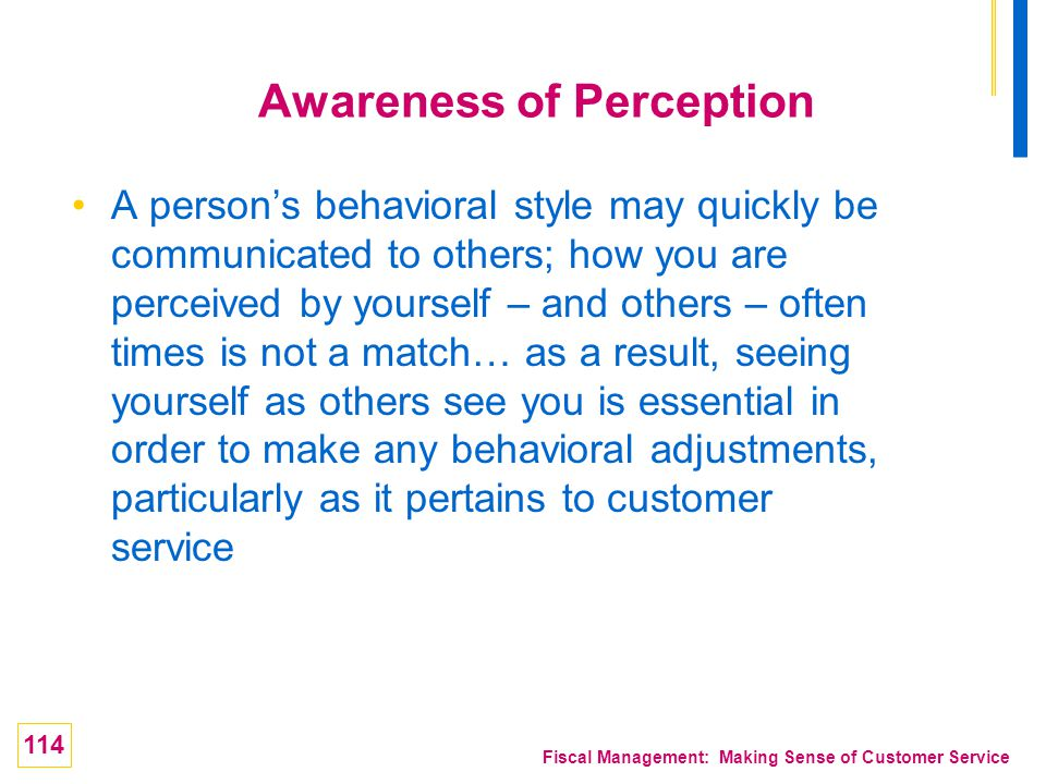 Awareness of Perception