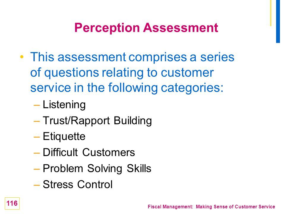 Perception Assessment