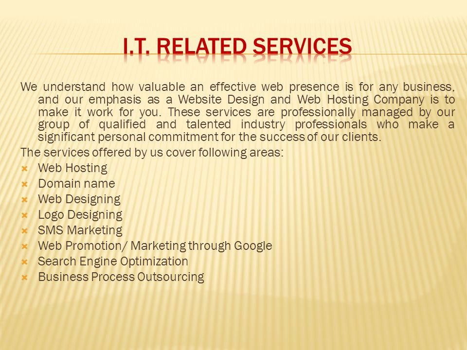I.T. RELATED SERVICES