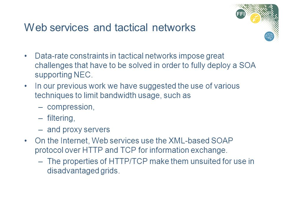 Web services and tactical networks