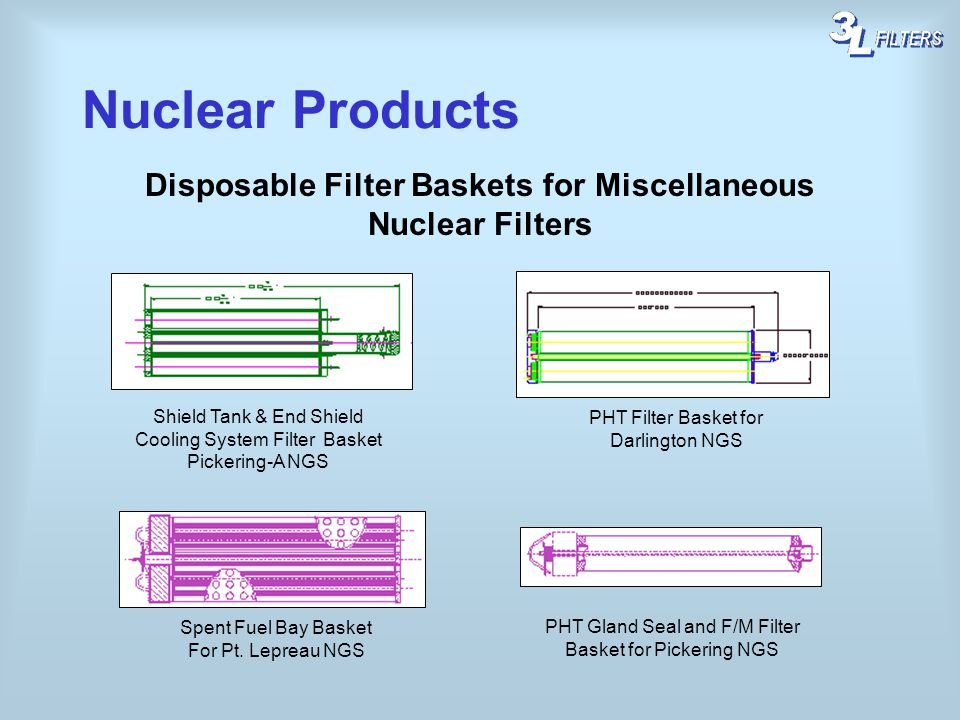 Disposable Filter Baskets for Miscellaneous Nuclear Filters
