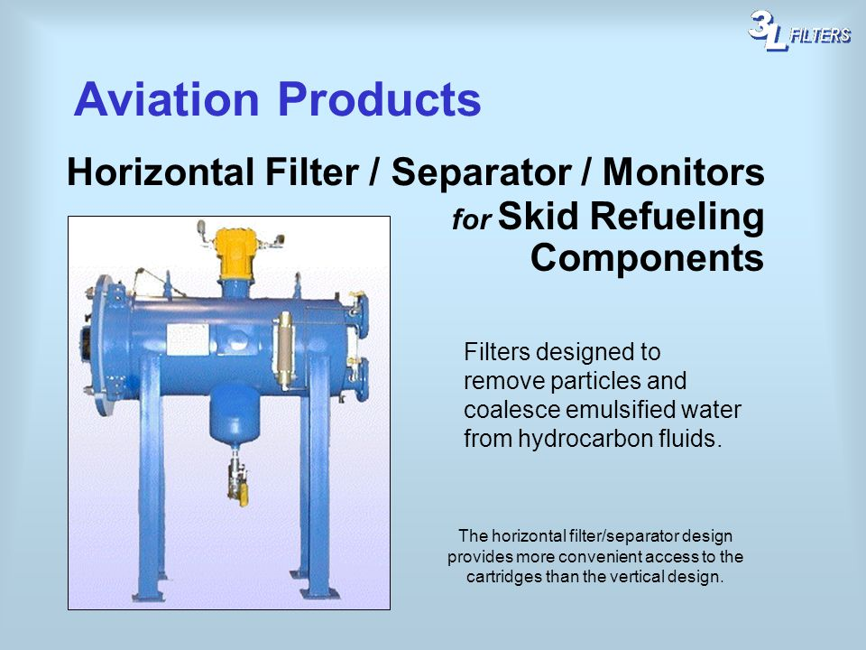 Aviation Products Horizontal Filter / Separator / Monitors