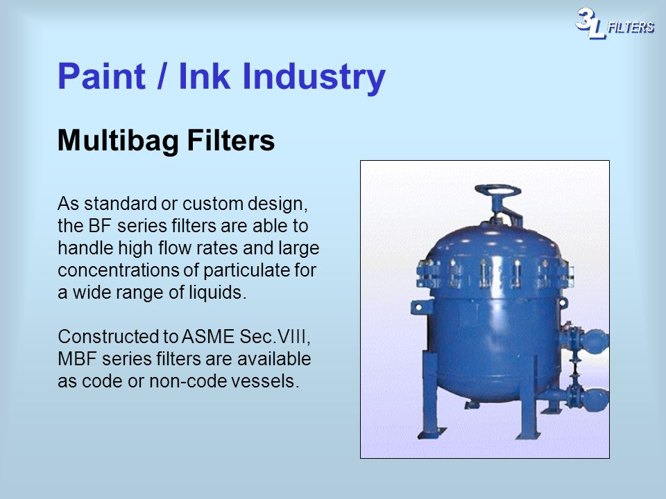 Paint / Ink Industry Multibag Filters