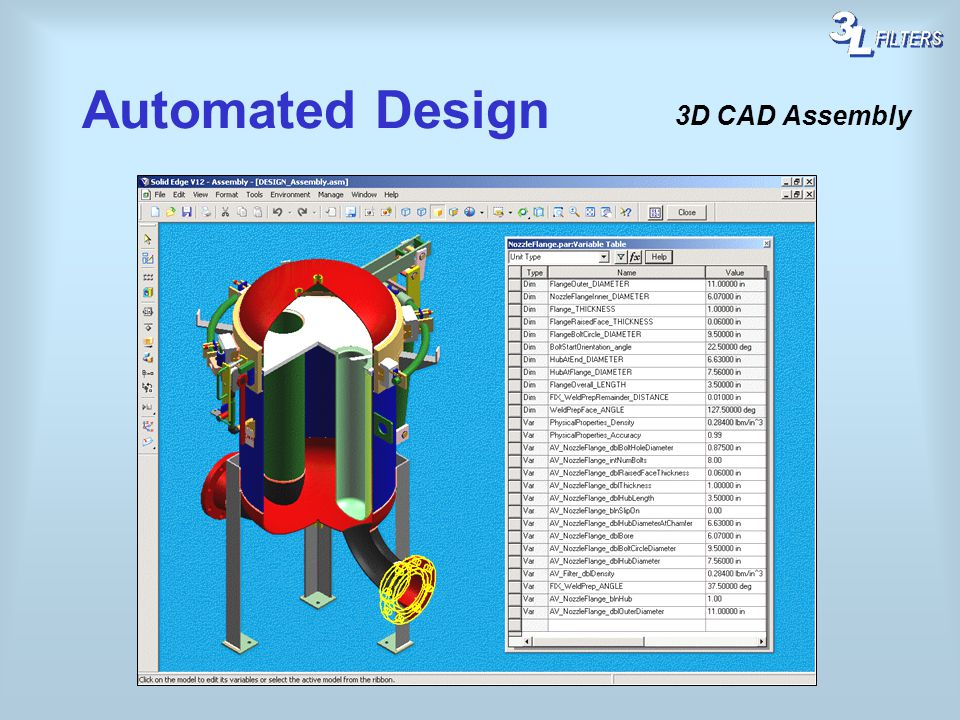 Automated Design 3D CAD Assembly