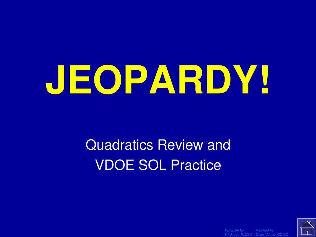 Quadratics Review and VDOE SOL Practice - ppt download
