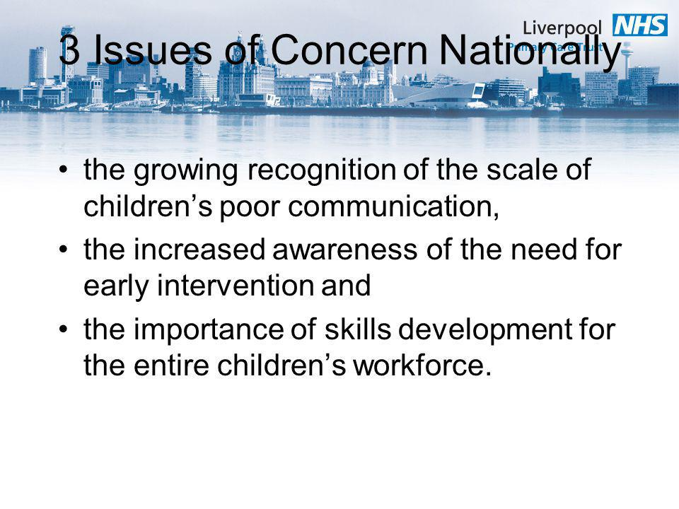 3 Issues of Concern Nationally