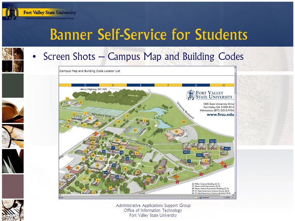 Coa Campus Map.Banner Self Service For Students Ppt Video Online Download