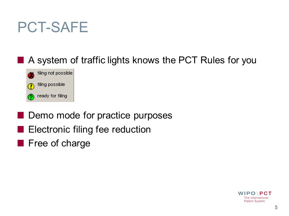 PCT-SAFE A system of traffic lights knows the PCT Rules for you