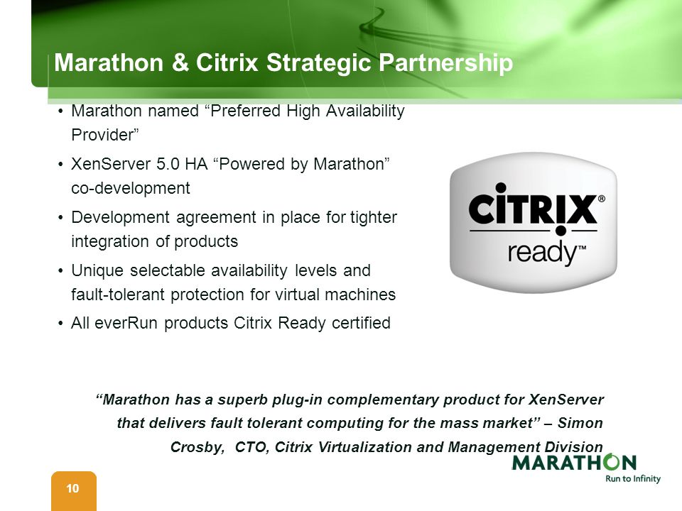 Marathon & Citrix Strategic Partnership