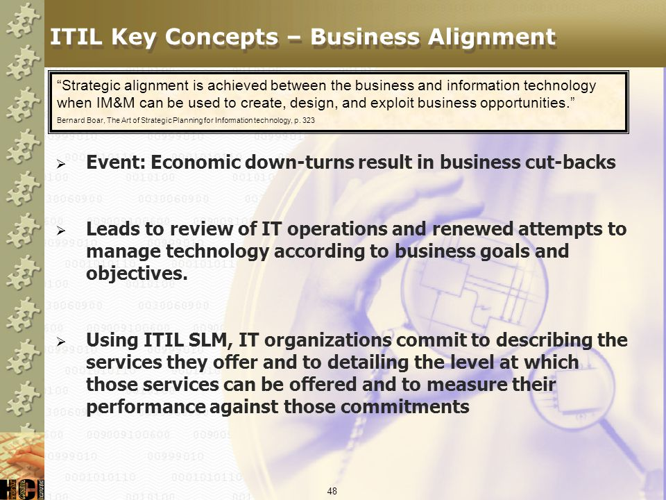 ITIL Key Concepts – Business Alignment