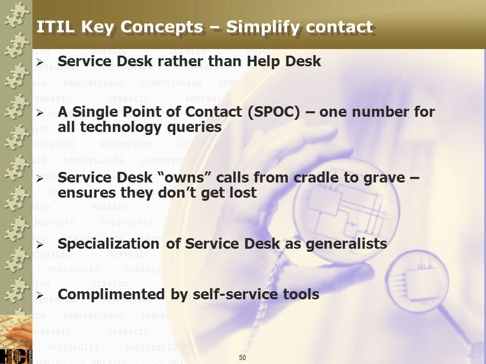 ITIL Key Concepts – Simplify contact