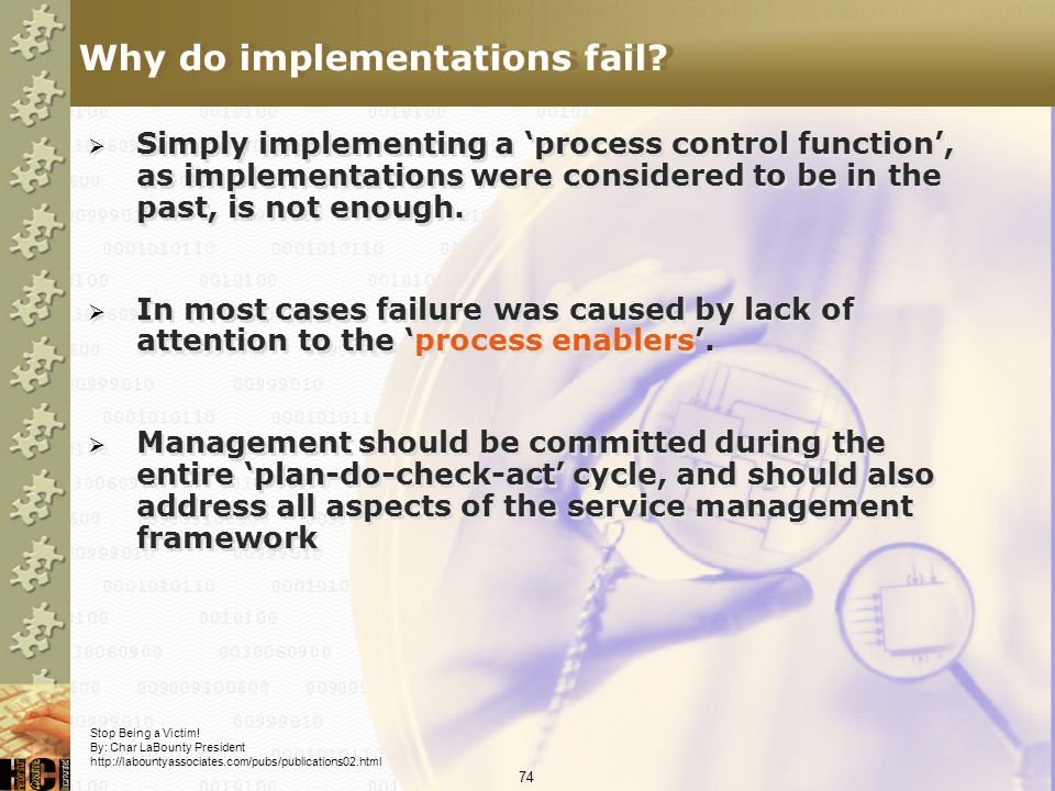 Why do implementations fail