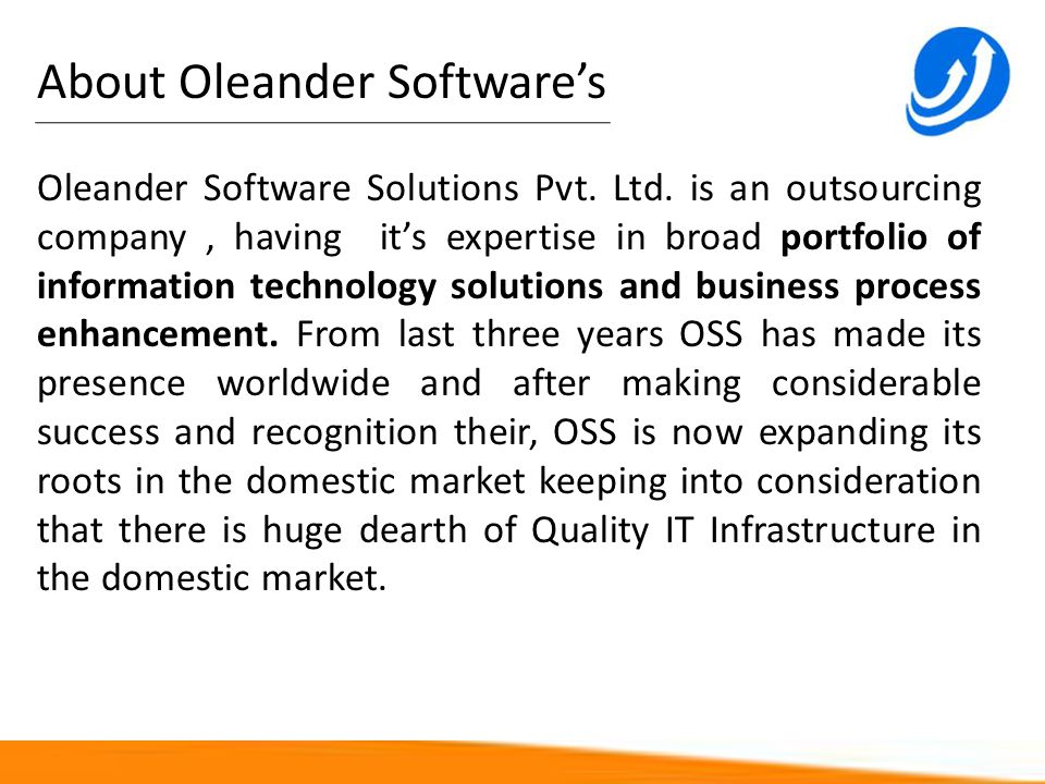 About Oleander Software's