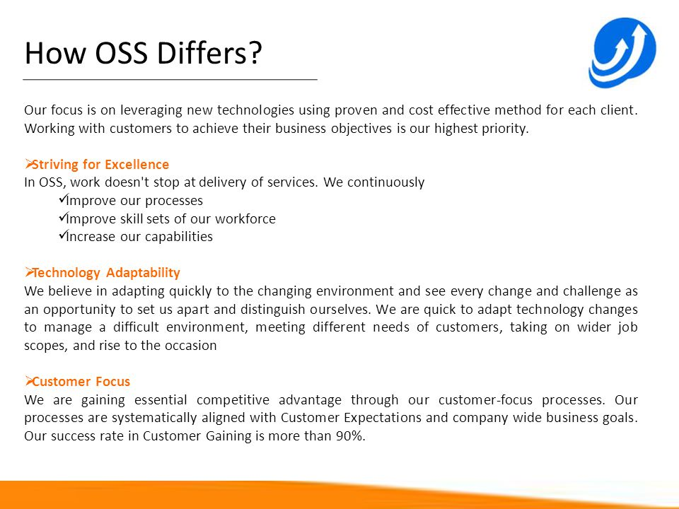 How OSS Differs