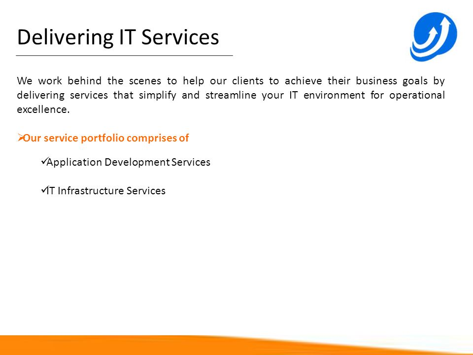 Delivering IT Services