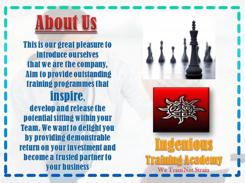 About Us Ingenious Training Academy