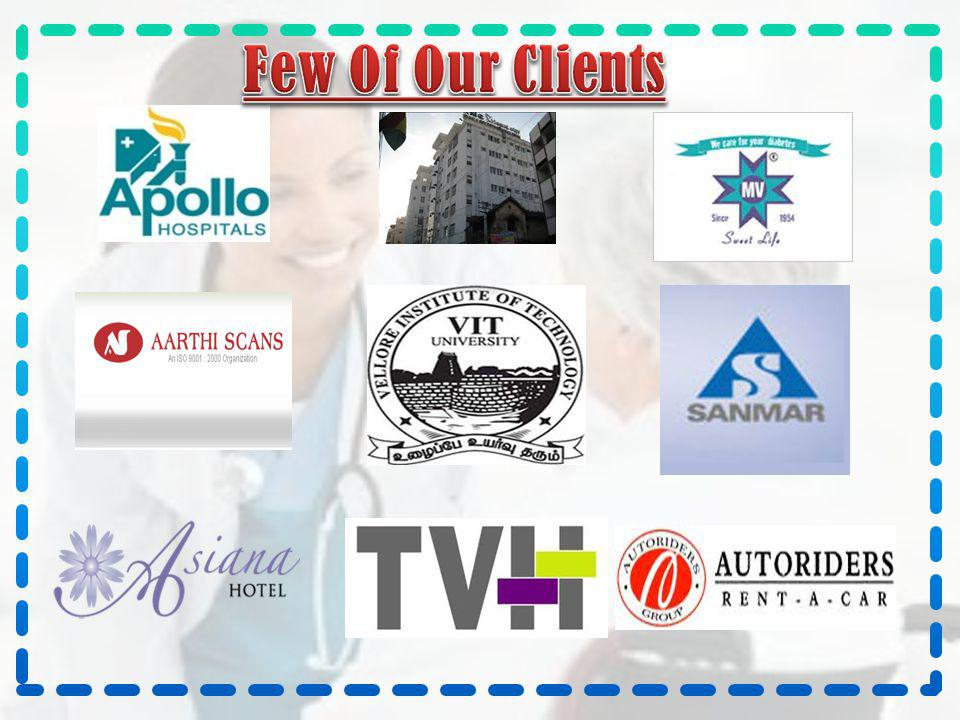 Few Of Our Clients