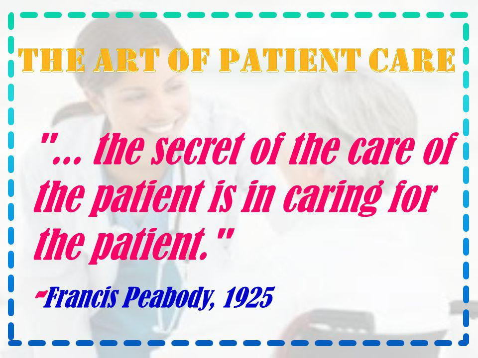 The art of patient care ...