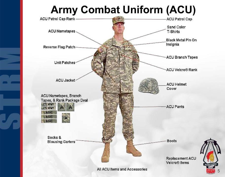 Proper wear of the military uniform ppt video online download 5 army combat uniform acu toneelgroepblik Image collections