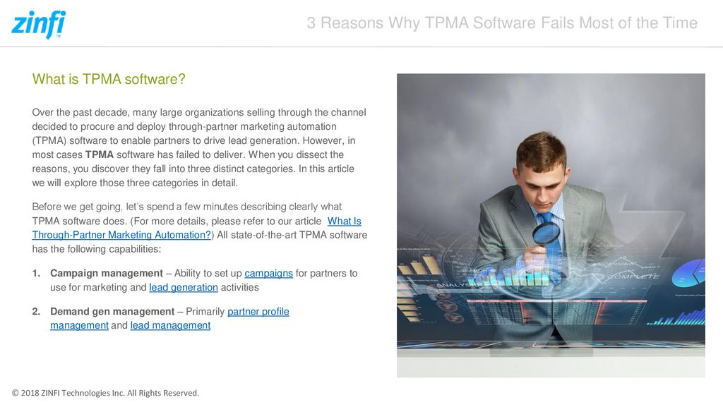 3 Reasons Why TPMA Software Fails Most of the Time - ppt