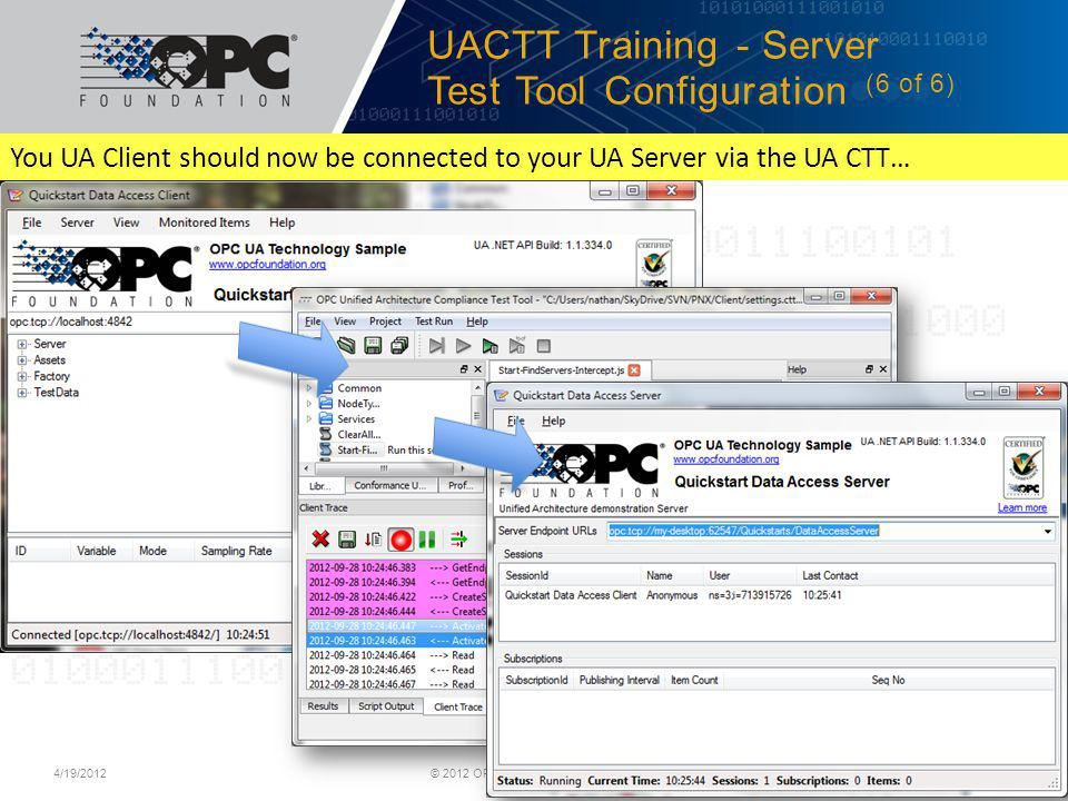 UACTT Training - Server Test Tool Configuration (6 of 6)