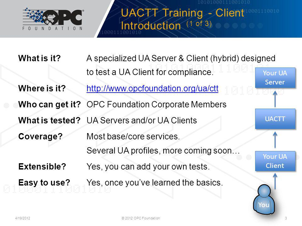 UACTT Training - Client Introduction (1 of 3)