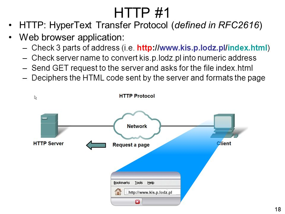 HTTP #1 HTTP: HyperText Transfer Protocol (defined in RFC2616)