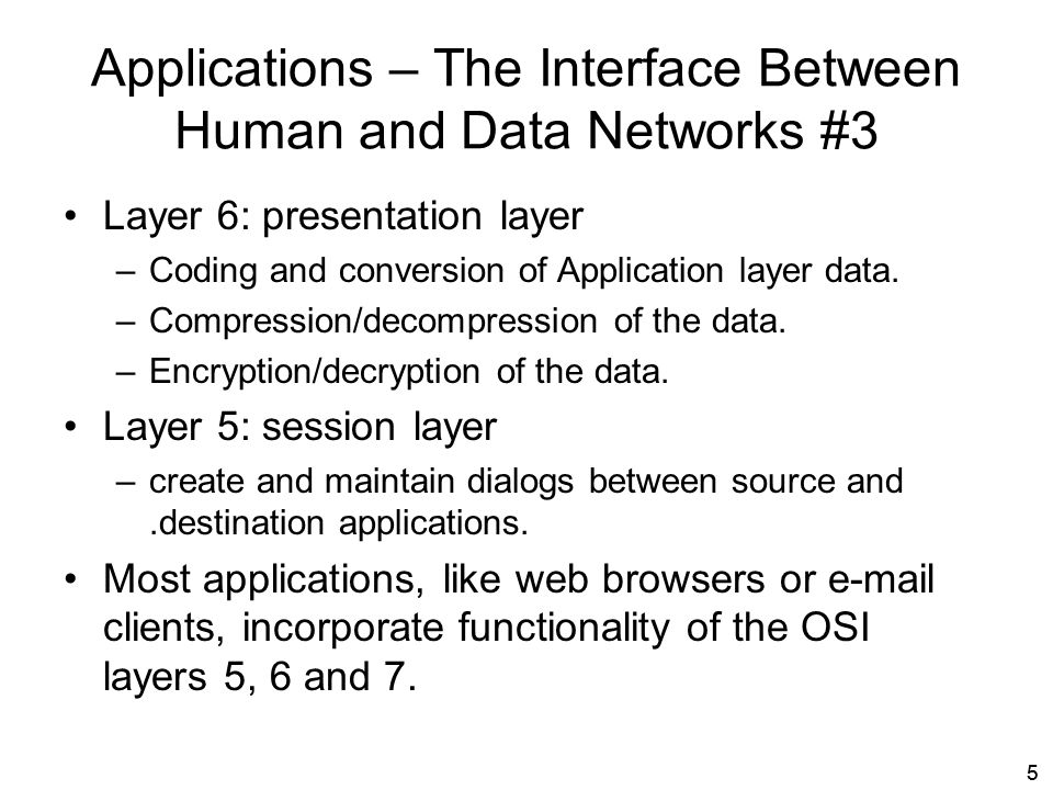 Applications – The Interface Between Human and Data Networks #3