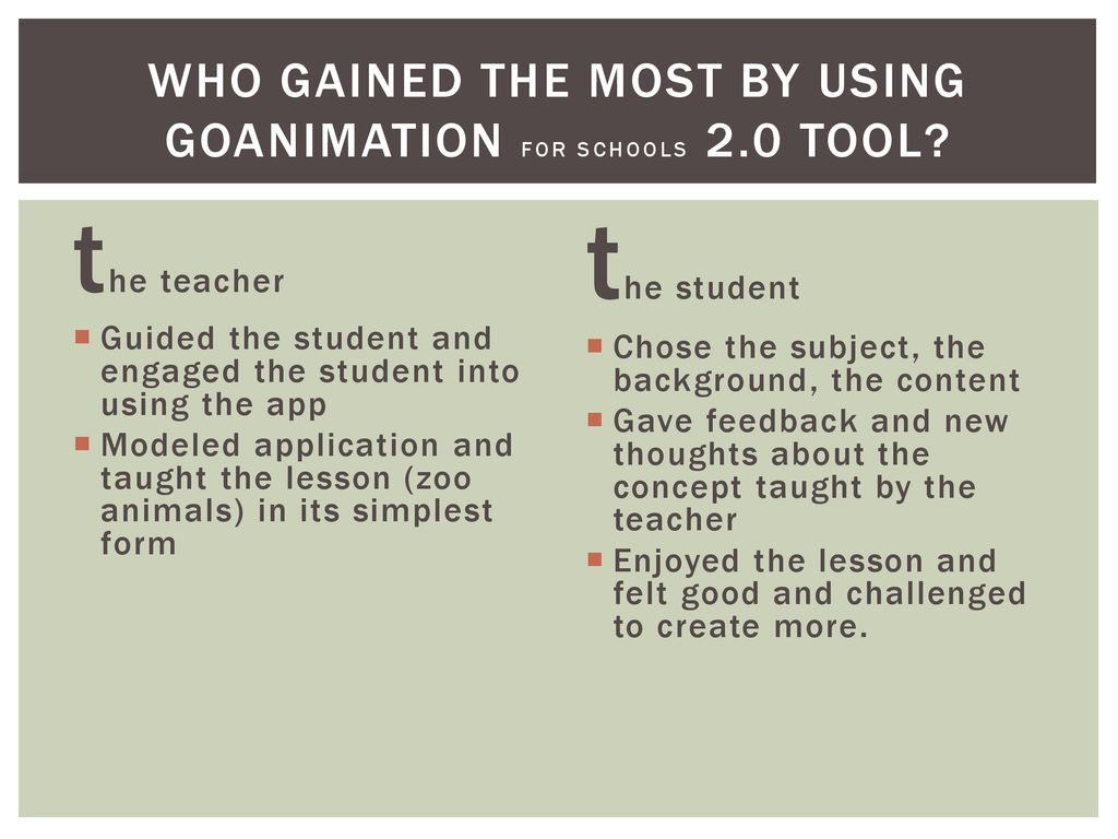 GOANIMATE! FOR SCHOOLS A VIDEO Web 2 0 Tool  - ppt download