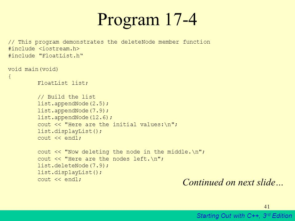 Program 17-4 Continued on next slide…