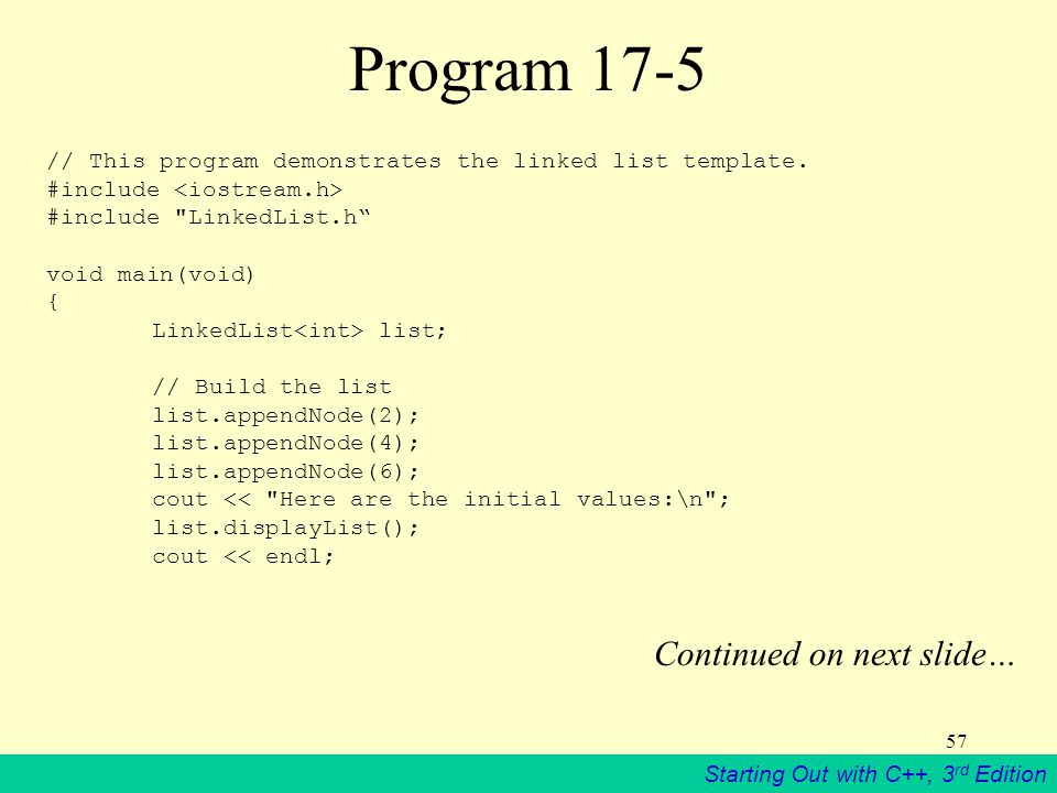 Program 17-5 Continued on next slide…