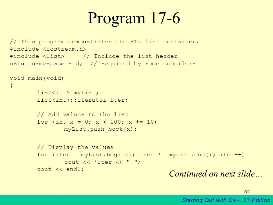 Program 17-6 Continued on next slide…