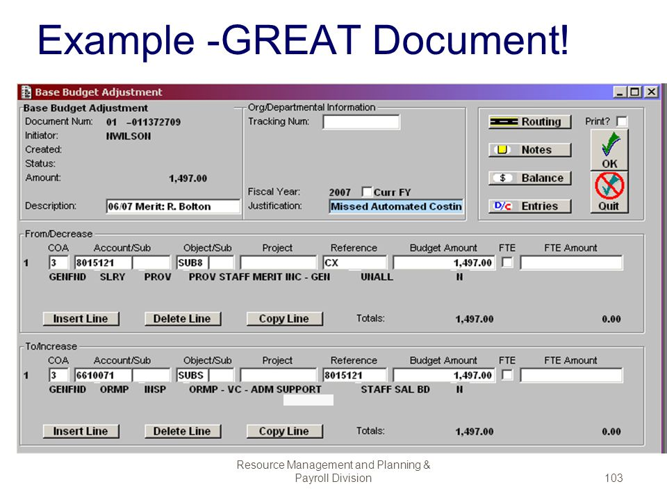 Example -GREAT Document!