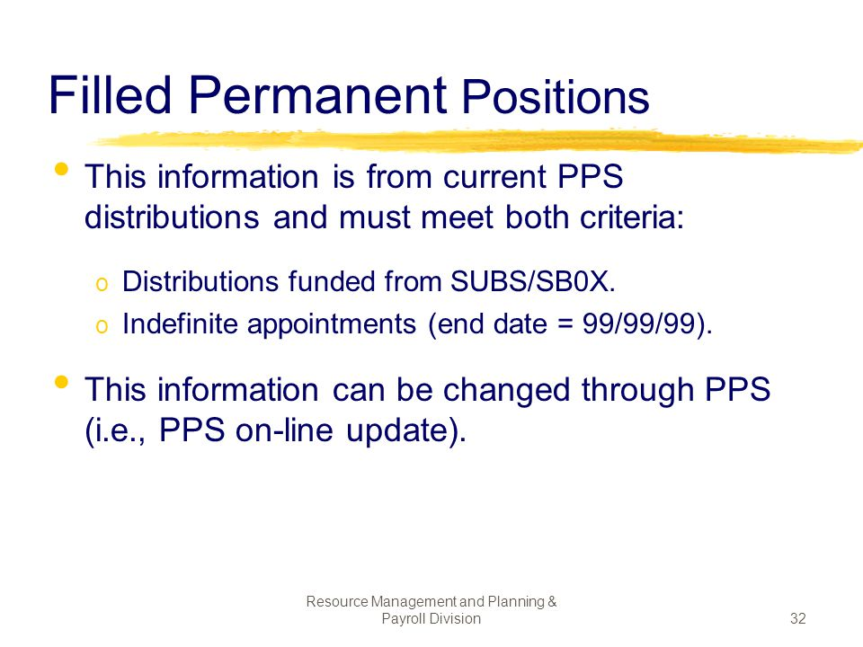 Filled Permanent Positions
