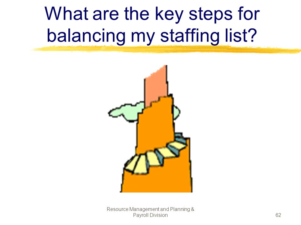 What are the key steps for balancing my staffing list