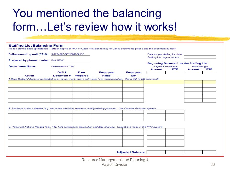 You mentioned the balancing form…Let's review how it works!