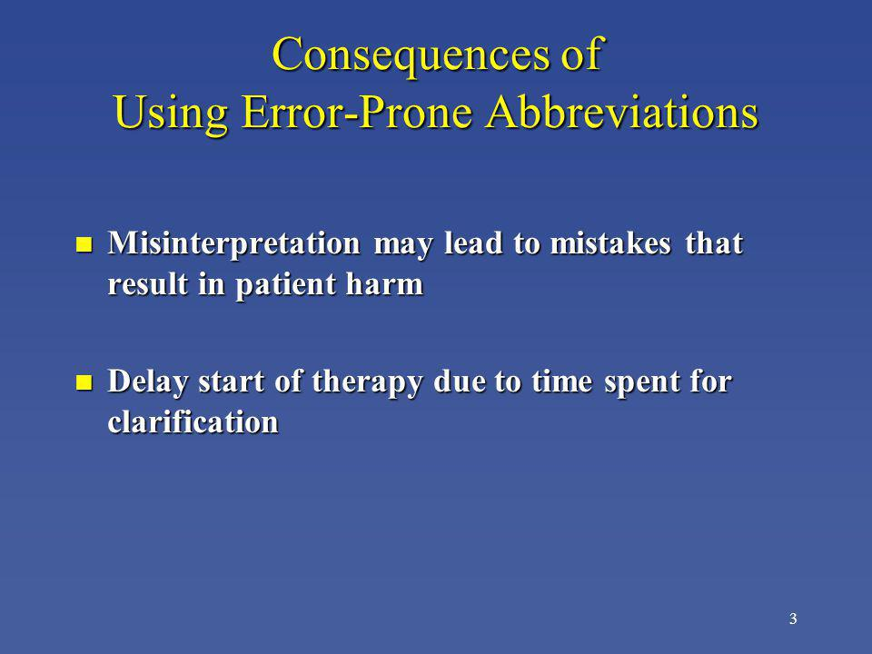 Consequences of Using Error-Prone Abbreviations